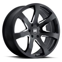 Литой колесный диск Black Rhino Mozambique Gloss Black With Milled Spokes 9,5x22 5x150 ET30 D110,1