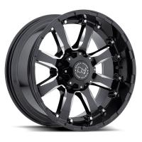 Литой колесный диск Black Rhino Sierra Gloss Black With Milled Spokes 9,0x20 5x150 ET12 D110,1